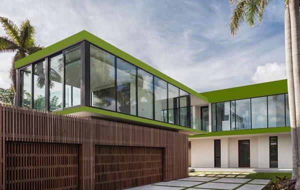 Green Plain Exterior Cladage
