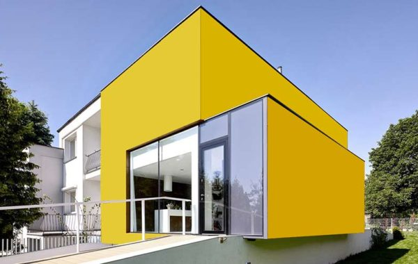 Yellow Plain Exterior Cladage
