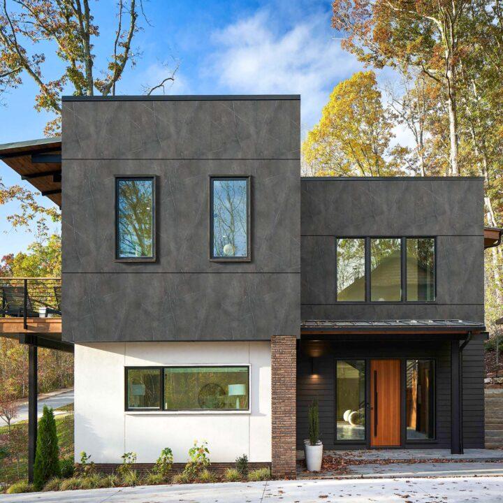 interior exterior caspio dark wooden cladding look