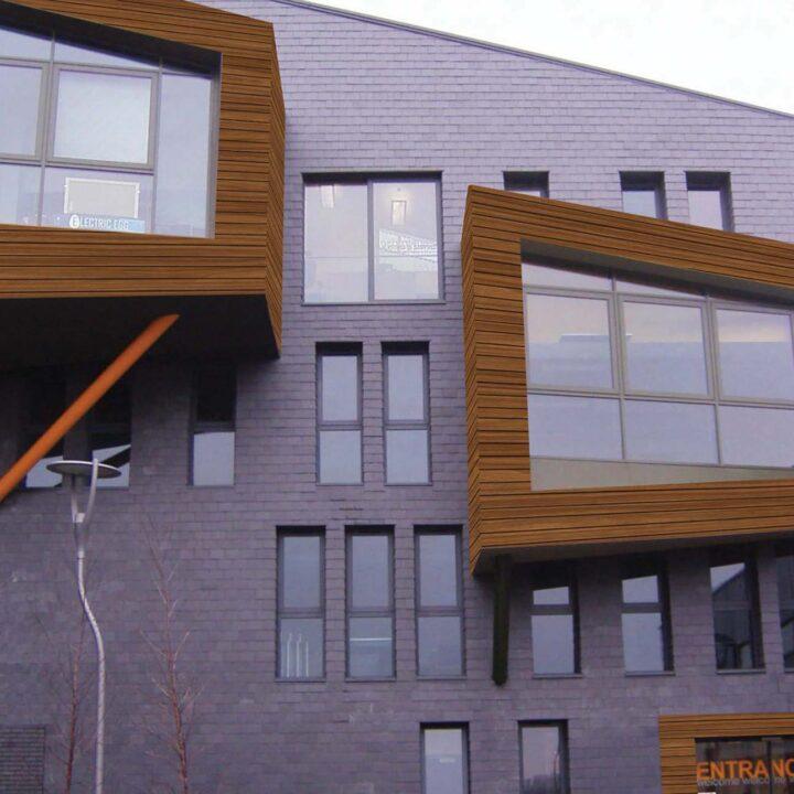 interior exterior american elm wooden cladding look