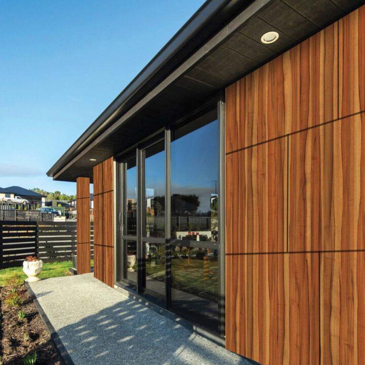 interior exterior trendy wood wooden cladding look
